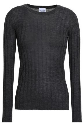 MADELEINE THOMPSON Ribbed wool and cashmere-blend top