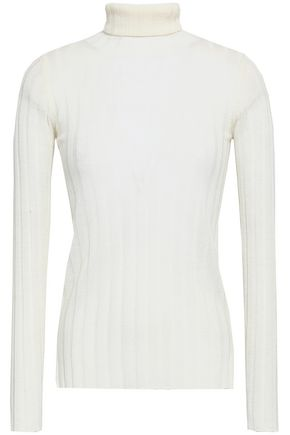 MADELEINE THOMPSON Ribbed wool and cashmere-blend turtleneck top