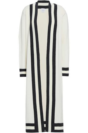 MADELEINE THOMPSON Striped wool and cashmere-blend cardigan