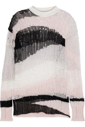 McQ Alexander McQueen Open-knit linen and cotton-blend sweater