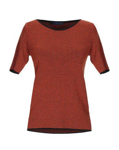 Купить Женский свитер BLUE LES COPAINS ржаво-коричневого цвета