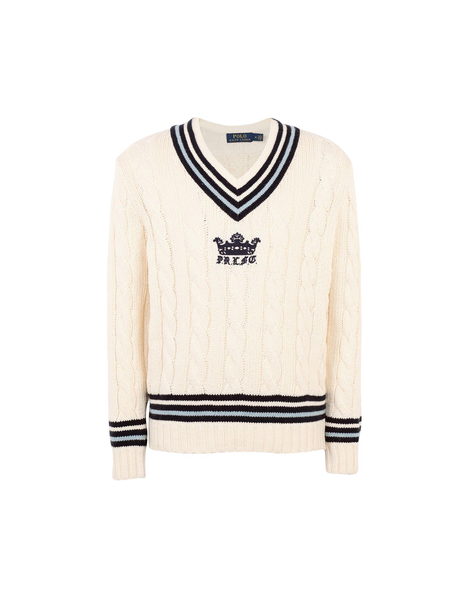 《期間限定セール開催中!》POLO RALPH LAUREN メンズ プルオーバー アイボリー XL コットン 85% / カシミヤ 15% Cotton Cashmere Cricket Sweater