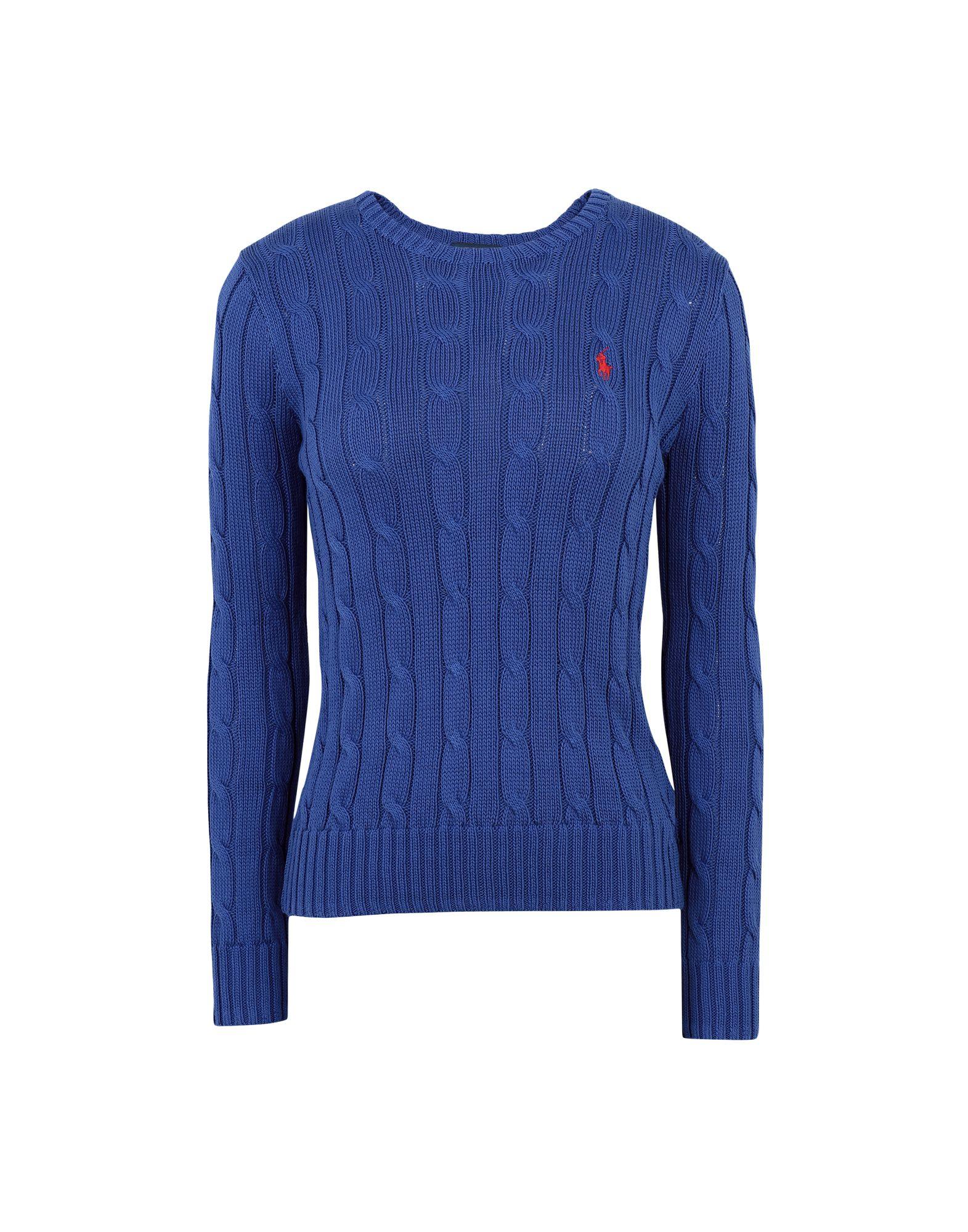 《送料無料》POLO RALPH LAUREN レディース プルオーバー ブライトブルー XS ピマコットン 100% Cable Knit Cotton Sweater