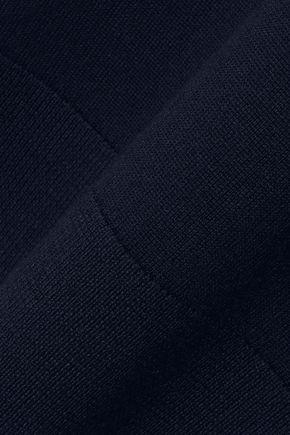 IRIS & INK Cleo crepe-paneled wool sweater