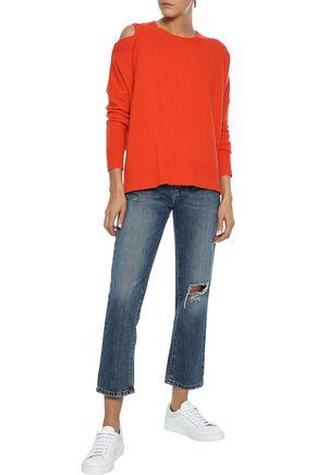 IRIS & INK Gracie cold-shoulder wool sweater