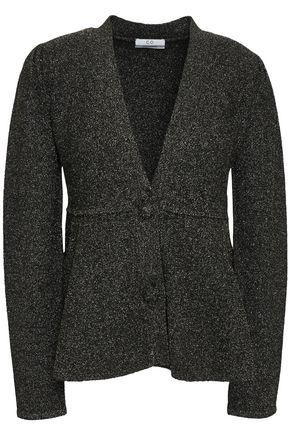 CO Metallic knitted peplum cardigan