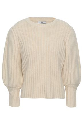 CO Ribbed alpaca, cotton and wool-blend sweater