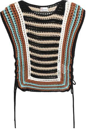 REDValentino Pointelle-knit cotton top