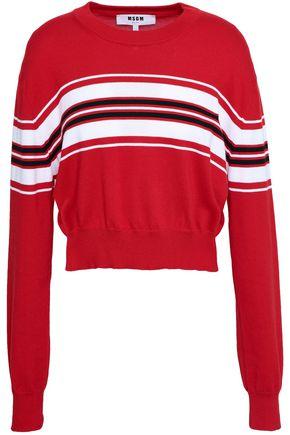 MSGM Striped cotton-knit sweater