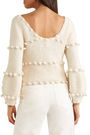 APIECE APART Pompom-trimmed cotton sweater