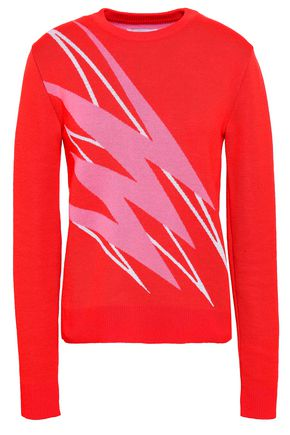 PACO RABANNE Intarsia-knit wool sweater
