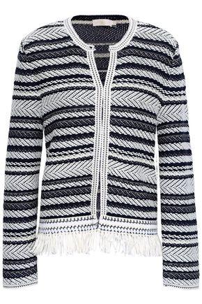 TORY BURCH Fringed cotton-jacquard jacket