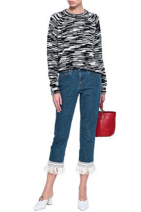 TORY BURCH Marled merino wool sweater