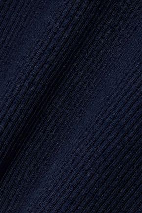 IRIS & INK Pandora fluted ribbed-knit top