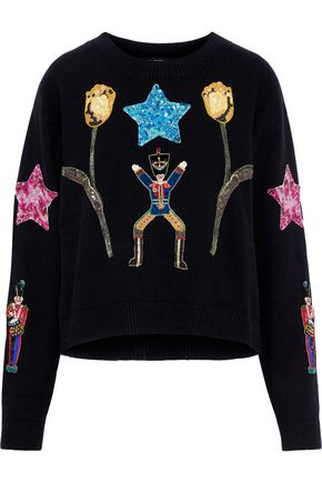 ee9519e33c DOLCE   GABBANA Embellished cashmere sweater