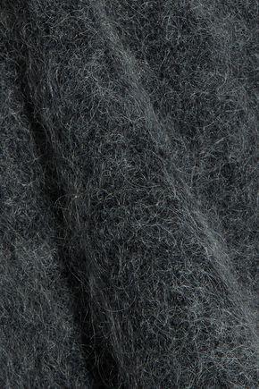 GANNI Evangelista brushed stretch-knit sweater