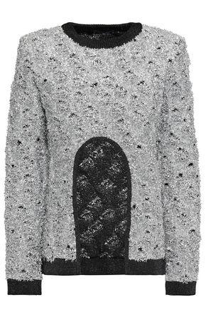 BALMAIN Metallic knitted sweater