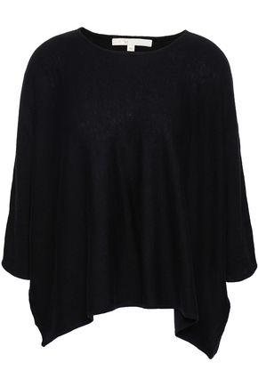 MAJE Silk, cotton and cashmere-blend top