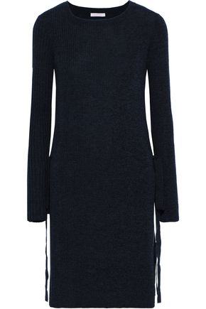 SEE BY CHLOÉ Tie-detailed mélange ribbed wool tunic