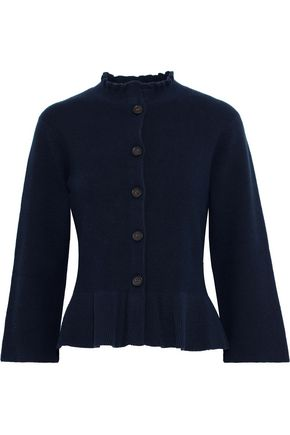 SEE BY CHLOÉ Ruffle-trimmed cotton-blend cardigan