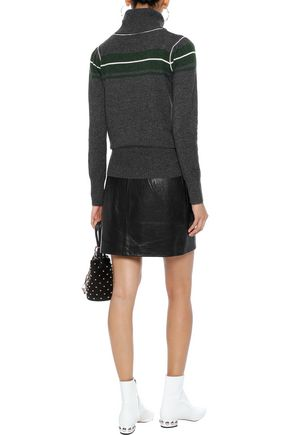 MADELEINE THOMPSON Satyr striped wool and cashmere-blend turtleneck sweater