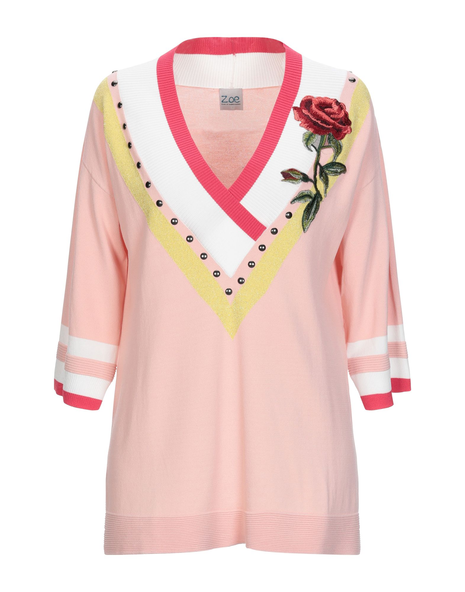 Z.O.E. ZONE OF EMBROIDERED Свитер flower embroidered smock top