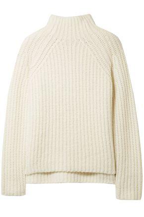 THEORY ケーブルニット ウール混 タートルネックセーター