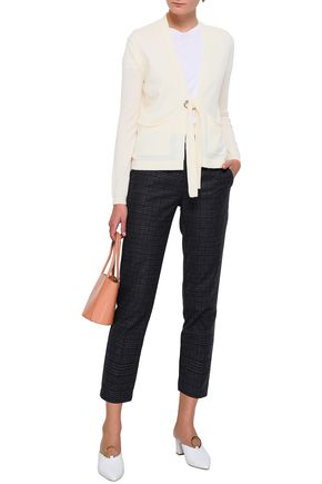 MAJE Mariani tie-front wool and cashmere-blend cardigan
