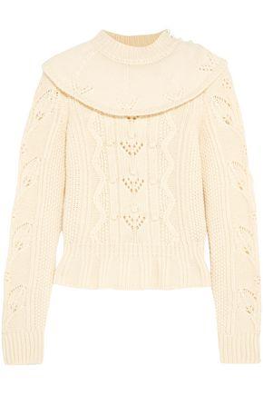 REDValentino Ruffled wool sweater