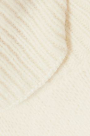 TORY BURCH Convertible wool-blend turtleneck sweater