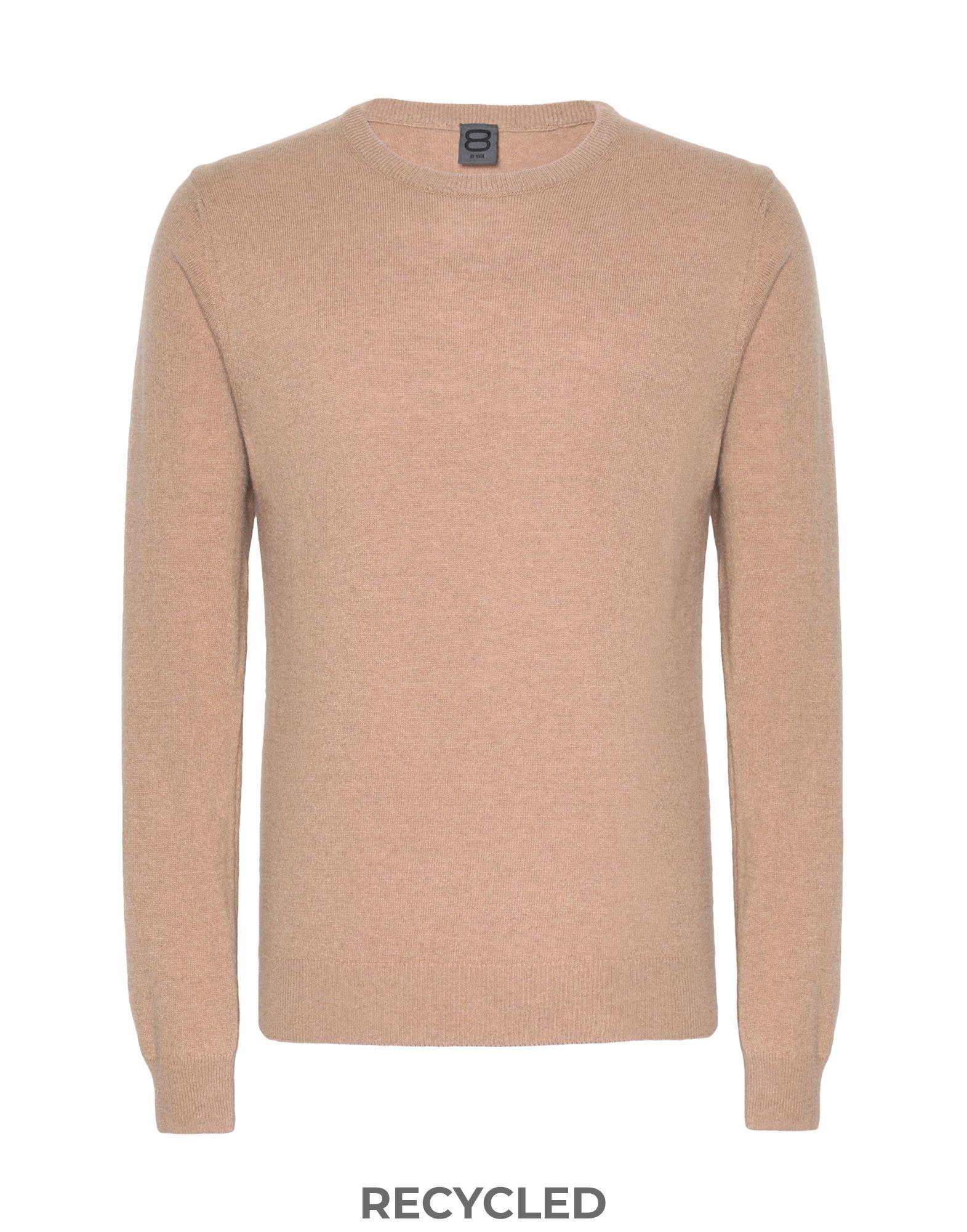 8 by YOOX Свитер пуловер с круглым вырезом из тонкого трикотажа из шерсти и кашемира axel