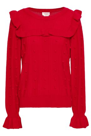 KATE SPADE New York Ruffle-trimmed knitted sweater