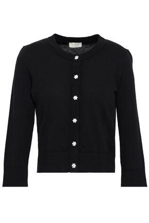 KATE SPADE New York Embellished cotton-blend cardigan