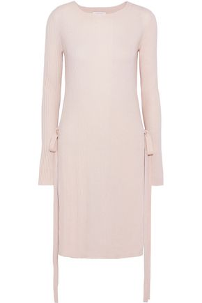 SEE BY CHLOÉ Tie-detailed ribbed wool tunic