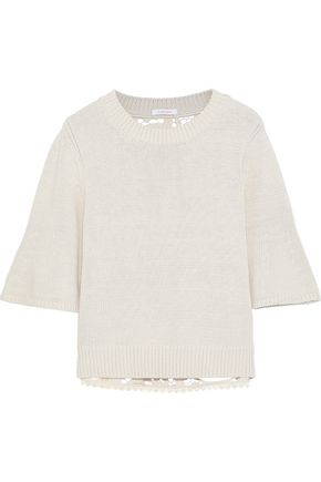 SEE BY CHLOÉ Guipure lace-paneled cotton sweater