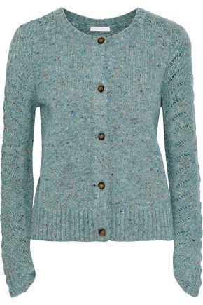 SEE BY CHLOÉ Marled wool-blend cardigan