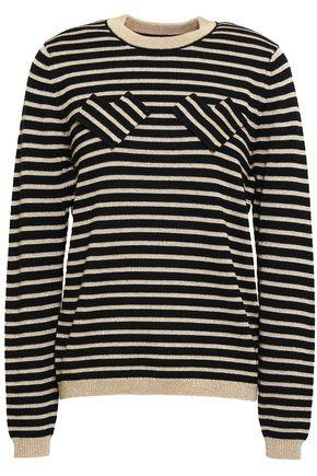 SHRIMPS Metallic striped intarsia wool-blend sweater