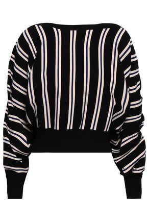 3.1 PHILLIP LIM Ruffle-trimmed intarsia-knit sweater