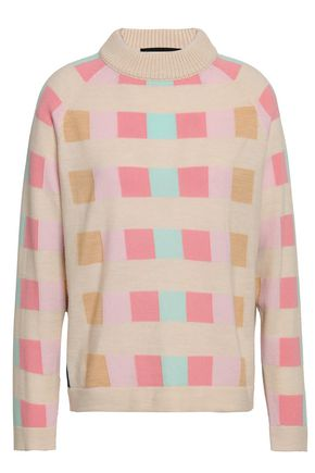 PAPER London Montanna intarsia-knit wool sweater