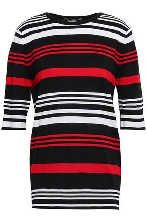 DOLCE & GABBANA Striped cashmere and silk-blend top