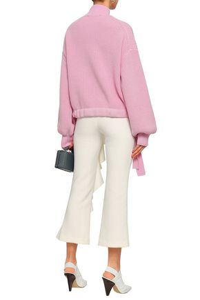 PAPER London Candyfloss ribbed wool turtleneck sweater