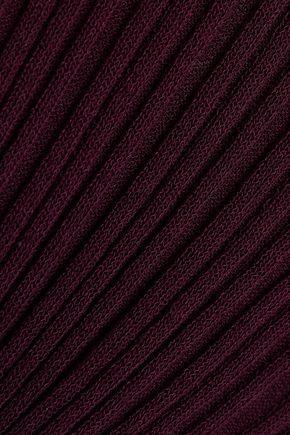 CINQ À SEPT Ribbed cotton-blend turtleneck sweater