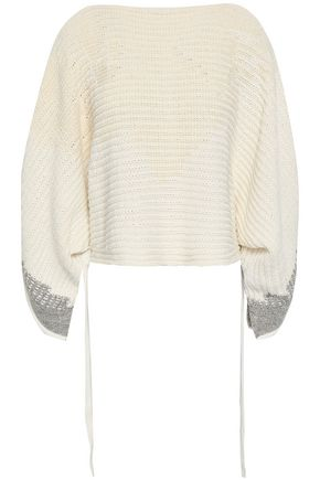 3.1 PHILLIP LIM Cropped intarsia cotton-blend sweater
