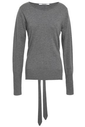 CHALAYAN Tie-back cutout wool and cashmere-blend sweater