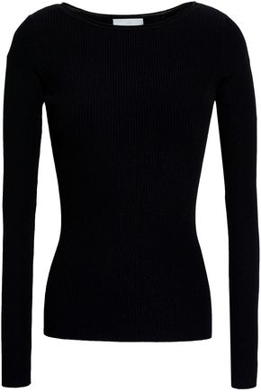 VINCE. Ribbed stretch-knit top