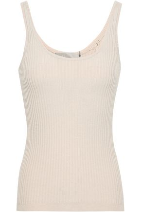 VINCE. Ribbed-knit wool-blend tank