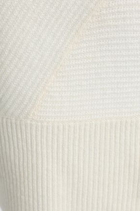 DUFFY Two-tone ribbed cashmere tunic