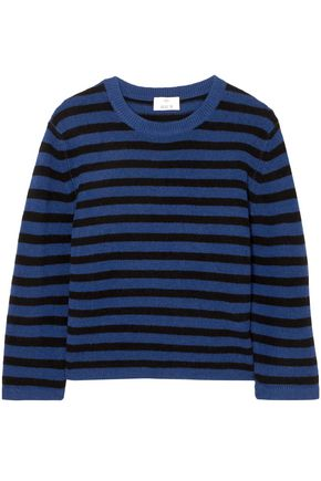 ALLUDE Striped cashmere sweater