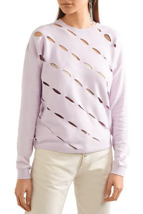 VICTOR GLEMAUD Open-knit cotton and cashmere-blend sweater