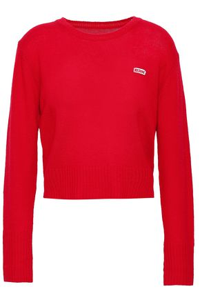 RE/DONE Appliquéd wool and cashmere-blend sweater